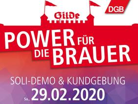 Plakat Aufruf Soli-Demo für Gilde