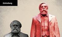 Skulpturen von Marx und Engels