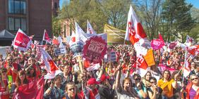 Demonstration GEW ver.di ErzieherInnen Sozialberufe und Erziehungsberufe