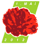 Grüne Raute mit roter Nelke: 1. Mai 2012