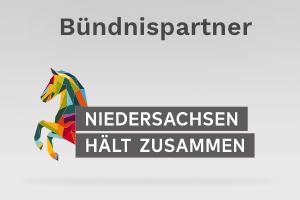 Logo Bündnis Niedersachsen hält zusammen