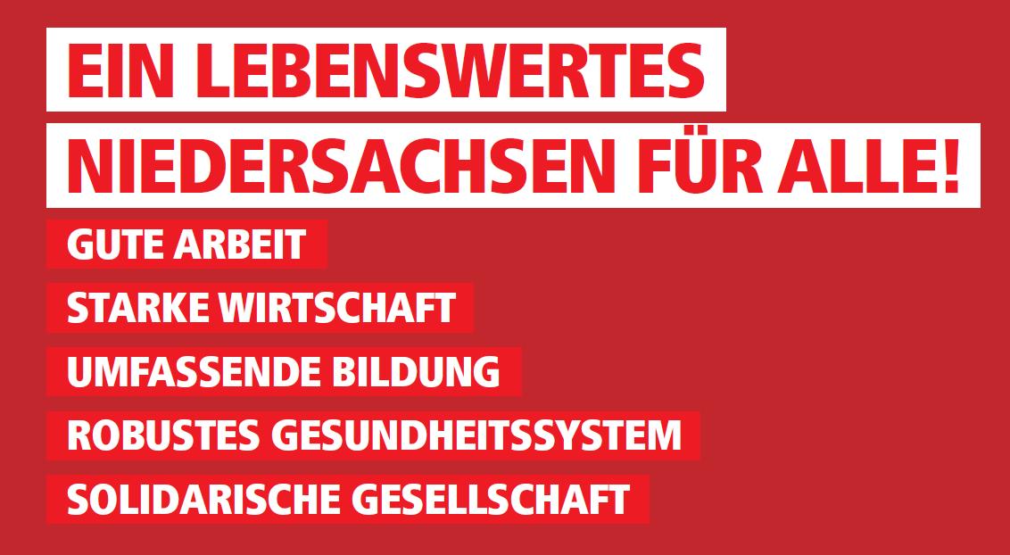 Teaser gemeinsames Papier von SPD und DGB Niedersachsen