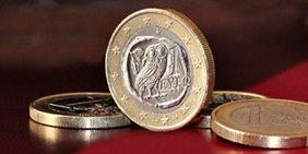 Euromünze mit Eulenmotiv