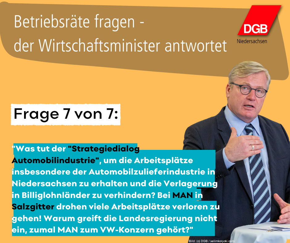 Kachel Betriebsräte fragen - Althusmann antwortet Frage 7