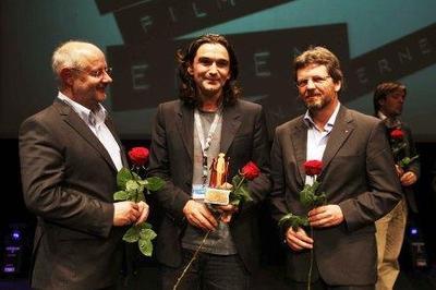 Kirchner, Chadwick, Paschke mit dem DGB-Filmpreis