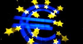 Beleuchtetes Euro-Zeichen