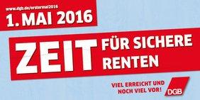 Teaser 1. Mai 2016 - Zeit für sichere Renten