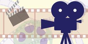 Grafik mit Kamera und Filmrolle