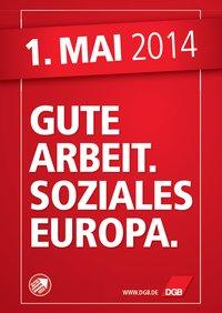 Plakat zum 1. Mai 2014