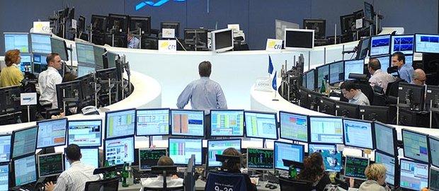 Blick in den Börsensaal in Frankfurt/Main
