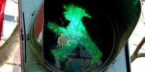 Grünes Ampelmännchen, Ampel, Ostdeutschland