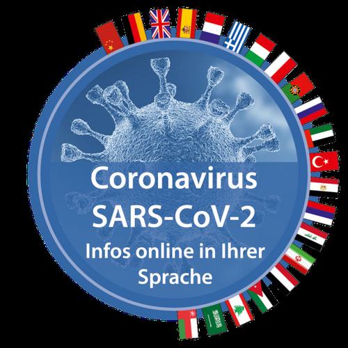 Corona in 15  Sprachen