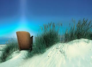 Kinostuhl in Dünen