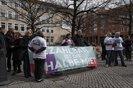 Aktion der Landesarmutskonferenz vor dem Landtag in Niedersachsen